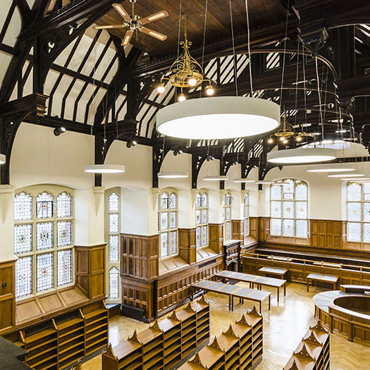 Period furniture for Methodist College, Belfast by Forbes Furniture Group