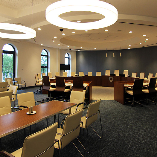 Executive furniture supplied and fitted at Banbridge Civic Centre, NI. by Forbes Furniture Group