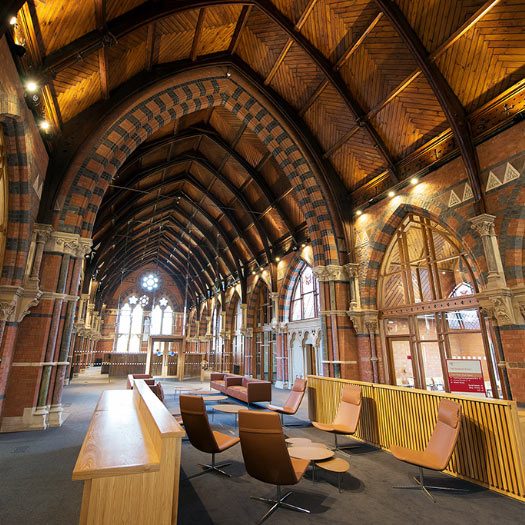 Bespoke workstations and reception for the Lynn Building at Queens University, Belfast by Forbes Furniture Group